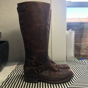 FRYE VERONICA brown boots size 9.5